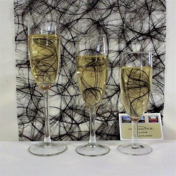 Champagneglas til udlejning
