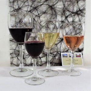 Hvidvinsglas på 21 cm høj