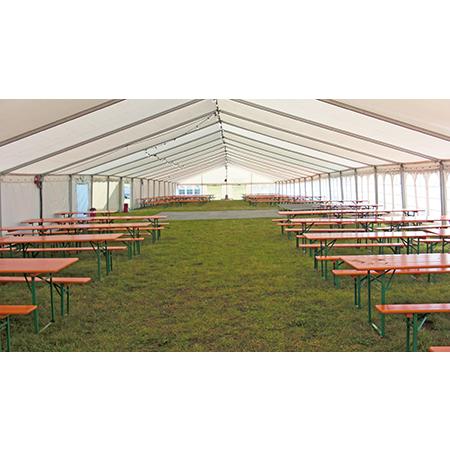 Flot stort hvidt telt 12x15 med højt til loftet