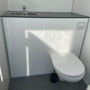 Toiletvogn m. 2 toiletter